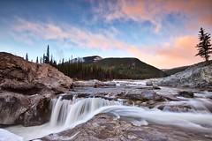 Elbow Falls pink sunrise March 19