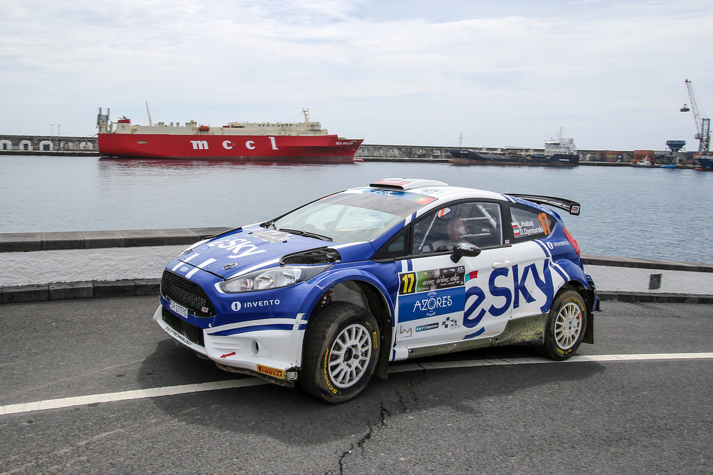 17 HABAJ Lukasz DYMURSKY Daniel Ford Fiesta R5 Action during the 2017 European Rally Championship ERC Azores rally,  from March 30  to April 1, at Ponta Delgada Portugal - Photo Jorge Cunha / DPPI