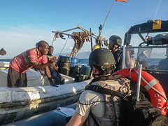 GLC´s BP excuting a FA with Somali fishermen
