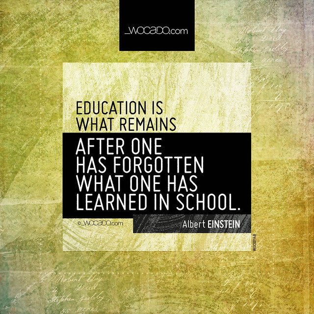 Education is what remains by WOCADO.com