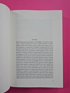 Golden boy, di Abigail Tarttelin. Mondadori 2014. Art director: Giacomo Callo, graphic designer: Susanna Tosatti. Incipit: a pag. 9 (part.), 1