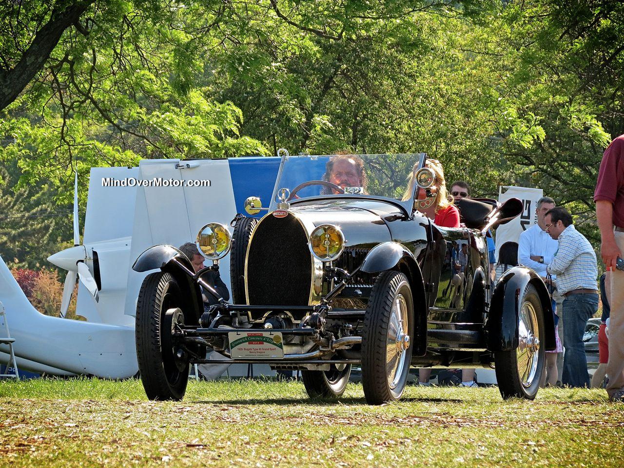 1929 Bugatti Type 40 Grand Sport front Greenwich Concours d'Elegance
