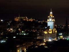 Edinburgh Castle and Balmoral hotel
