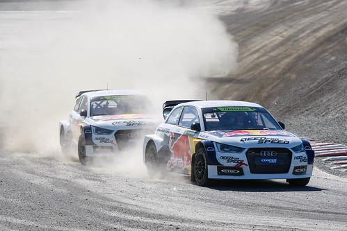 Pontus Tideman Mattias Ekstrom Campeonato del Mundo FIA de Rallycross RX Noruega 2014