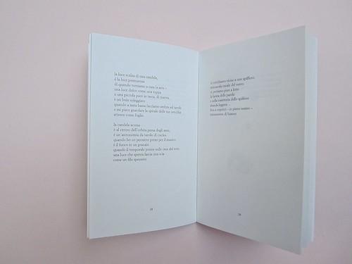 Ortografia della neve, di Francesco Balsamo. incertieditori 2010. Progetto grafico di officina delle immagini. Pagine interne: a pag. 28 e 29 (part.), 1