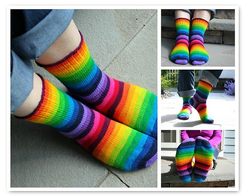15 Colour Rainbow Socks