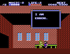 Zelda II The Adventure of Link 040 - I am Error