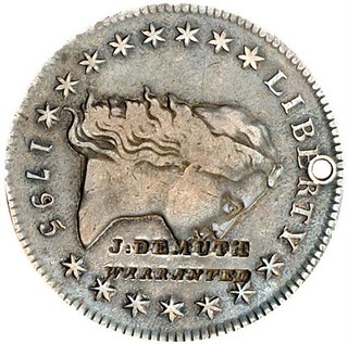 J. DEMUTH on 1795 Flowing Hair Dollar