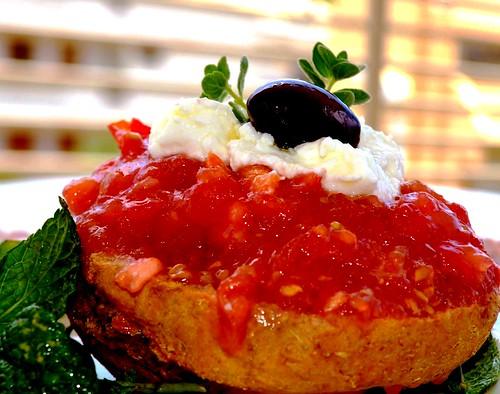 healthy meal :Cretan Dakos