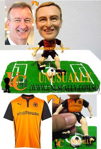 Custom 3D Wolverhampton Wanderers Soccer Fan Figurine - @www.unusually.com.sg