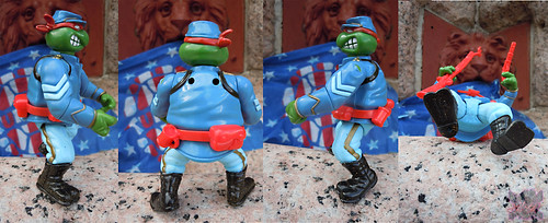 """MUTANT MILITARY 2"" TEENAGE MUTANT NINJA TURTLES ::  YANKEE DOODLE RAPH  ix (( 1992 ))"
