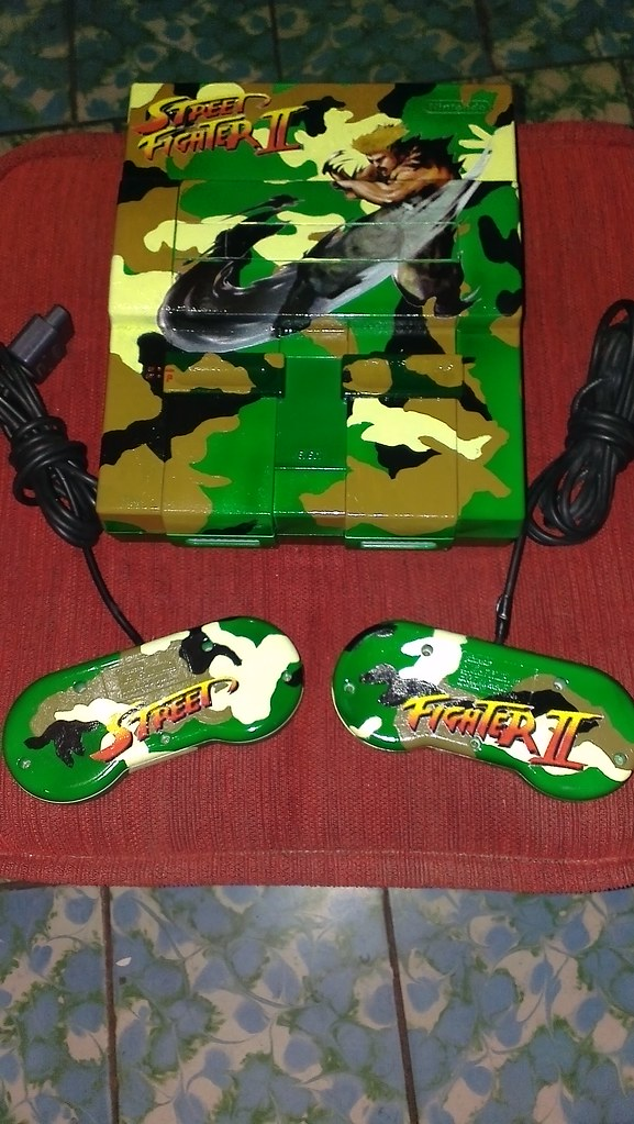 SNES custom vStreet Fighter Guile