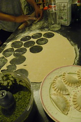Ravioli épinards ricotta - in the making