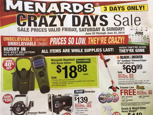 While I'm not a huge fan of rebates (I've had one too many denied for dubious reasons) I am a big fan of Menards' rebates. Nearly every week, Menards has a variety .