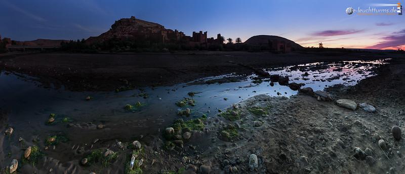 Colorful dawn behind Aït Benhaddou