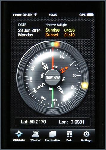 Sun Compass App