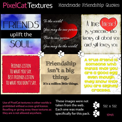 PixelCat Textures - Handmade Friendship Quotes