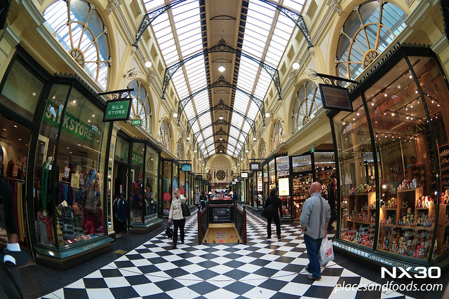 royal arcade melbourne fish eye