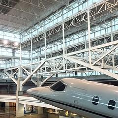 bullet train(0.0), boarding(0.0), aircraft engine(0.0), aviation(1.0), airplane(1.0), airport(1.0), vehicle(1.0), transport(1.0), hangar(1.0),