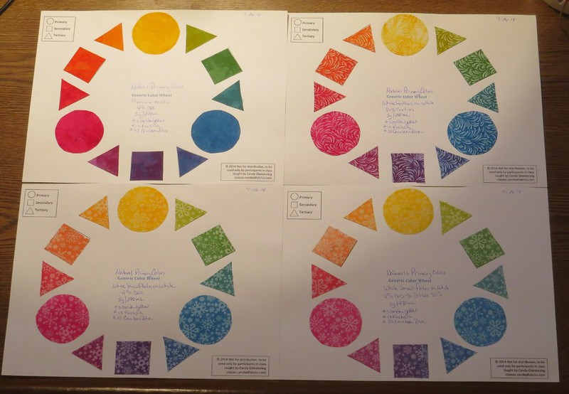 Twelve Step Color Wheel - Naturals Primaries x 4