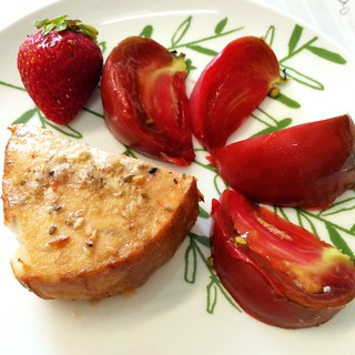 Swordfish and summer fruit