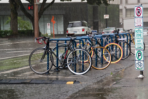 21383 I head out to ride and see wet bike corral on SW Stark before SW 10th Ave | by geekstinkbreath