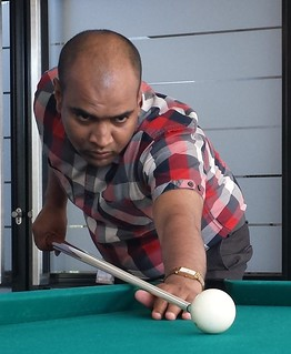 Trying my hands at pool