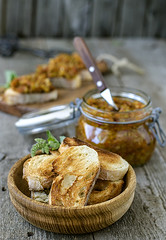 Squash caviar with toasts