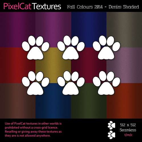 PixelCat Textures - Fall Colours 2014 - Denim Shaded