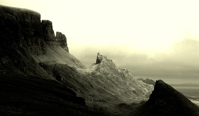 Quiraing - the black and white version