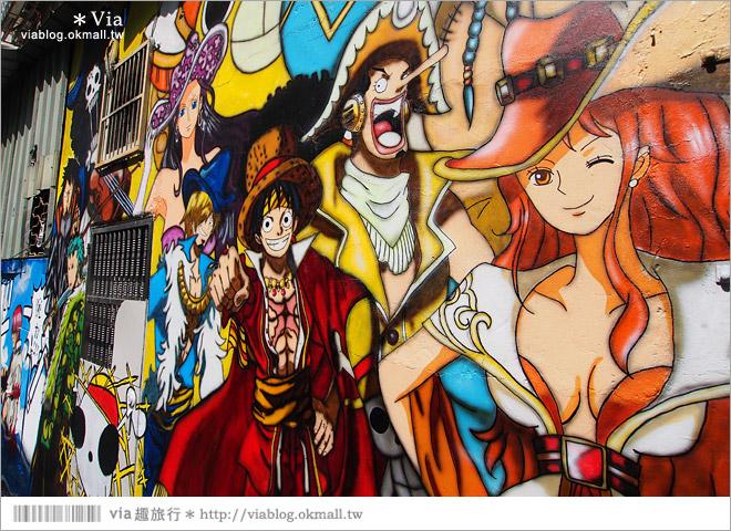 【台中海賊王彩繪】台中新遊點!小巷裡出現海賊王彩繪牆~ONE PIECE迷必訪!8
