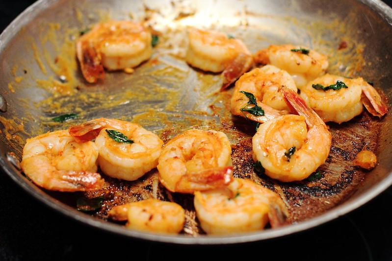 Sunday Dinner: Spicy Shrimp and Roasted Romanesco