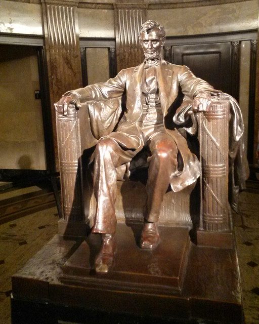 Header of seated lincoln