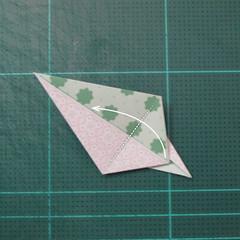 การพับกระดาษเป็นสัญลักษณ์ดาวแปดแฉกคู่ (Double Eight-Pointed Stars Origami) 007