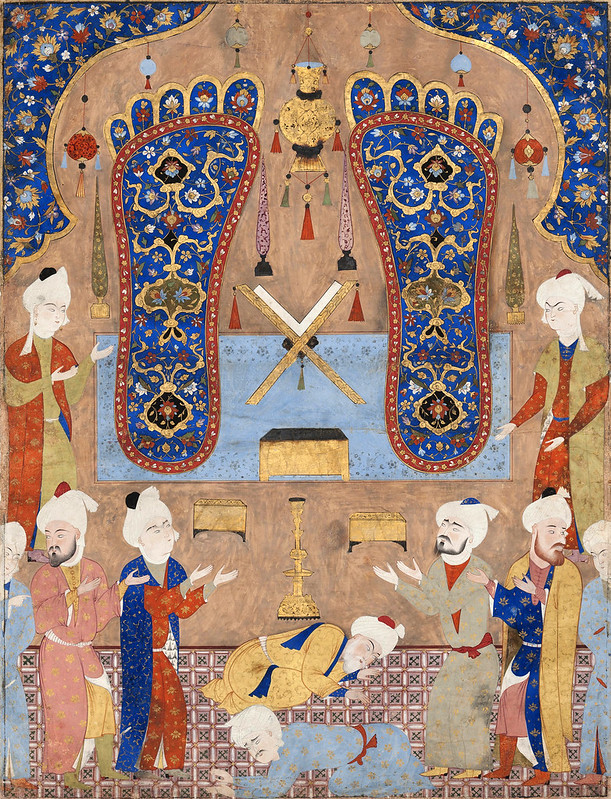 Scène dans une mosquée au sanctuaire de l'Imam Reza