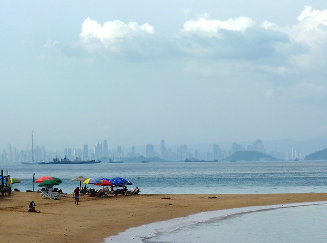Panama Skyline from Isla Taboga