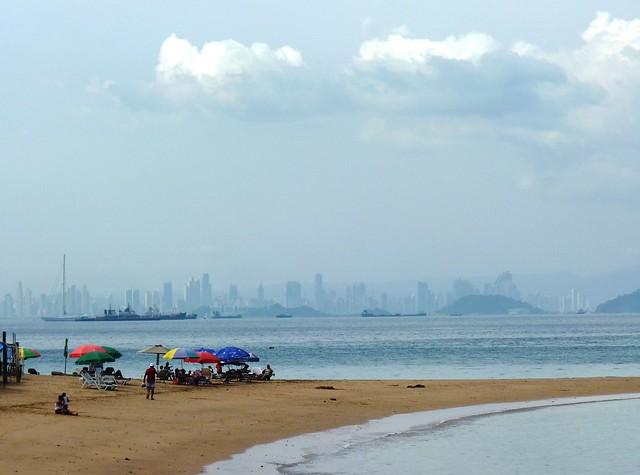 Panama Skyline from Isla Taboga