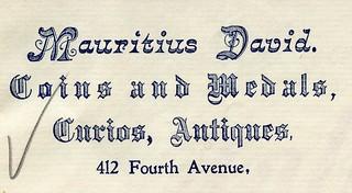 David, Mauritius letterhead