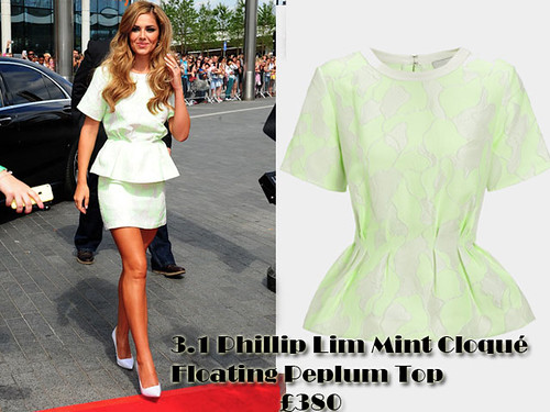Peplum Trend: 3.1 Phillip Lim Mint Cloqué Floating Peplum Top