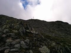 Aufstieg Tarscher Joch, Blick auf das Wetterkreuz