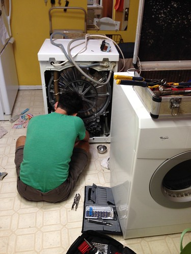 Washing Machine Repair Day by mikey and wendy