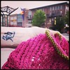 I love knitting in public. #knitstagram #knittinginpublic #wichita #oldtown