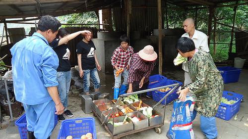 staff learning food prep
