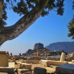 Kastri from Basilica of Agios Stephanos #AgiosStefanos #Kastri #kefalos #Kos #Greece