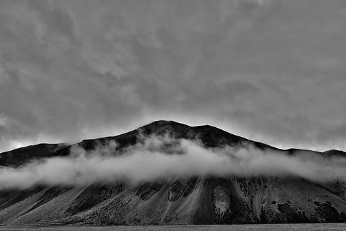 mountains rain fog blackwhite asia mongolia centralasia westernmongolia khovdmongolia