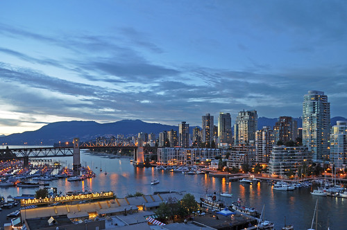 Canada - Vancouver - False Creek, Burrard Bridge