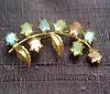 Vintage Rhinestone Rainbow Stylized Flower Brooch