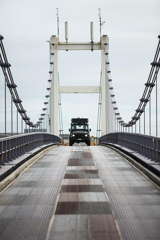 Jeep on bridge