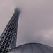 Tokyo Sky Tree in the storm