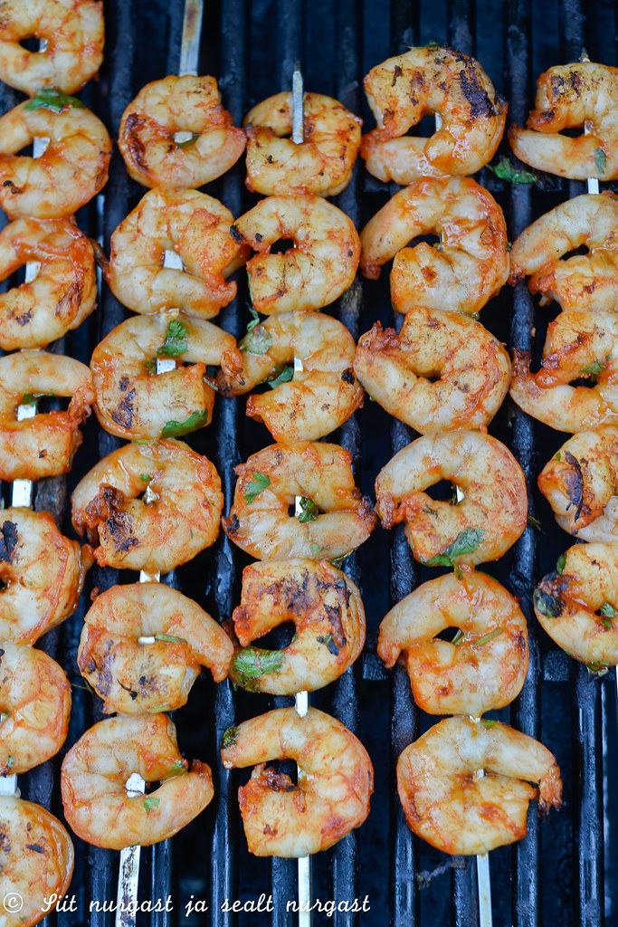 grillitud krevetid Gochujang-pastaga